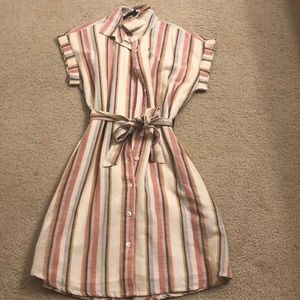 Francescas cotton dress with a belt NEW!!